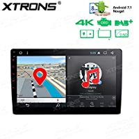 XTRONS 10.1 Android 7.1 Nougat 32GB ROM + 2GB DDR3 RAM Octa-Core Rotatable Face Panel 2.5D Curved Screen Car Stereo