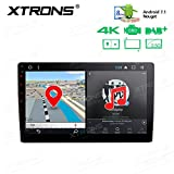 XTRONS 10.1'' Android 7.1 Nougat 32GB ROM + 2GB DDR3 RAM Octa-Core Rotatable Face Panel 2.5D Curved Screen Car Stereo