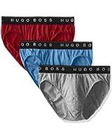 BOSS HUGO BOSS Men's 3-Pack Assorted Cotton Brief