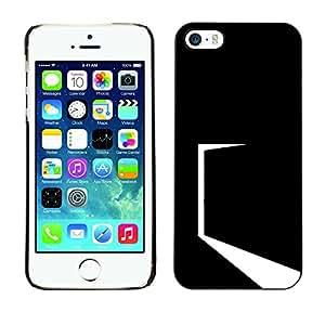 EJOY---Cubierta de la caja de protección la piel dura para el / iPhone 5 / 5S / --Minimalista Negro Puerta