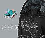 Wantdo Women's Windproof Ski Jacket Hooded Fleece