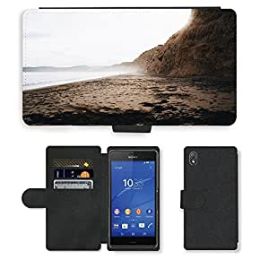 Just Phone Cases PU LEATHER case coque housse smartphone Flip bag Cover protection // M00421778 Costa de playa de la Costa del mar del // Sony Xperia Z3 D6603 D6633 D6643 D6653 D6616