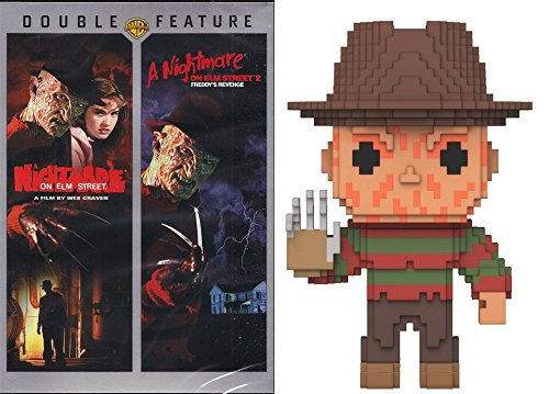 Double Feature and Pop Figure Bundle: A Nightmare on Elm Street/A Nightmare on Elm Street 2 DVD & Pop # 22 8-Bit Freddy Krueger Figure]()