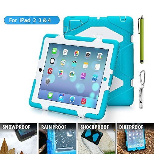 Travellor Shock Proof Case For Ipad 2/3/4-LIGHT BLUE WHITE