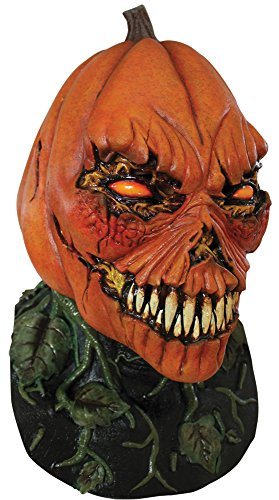 Possessed Pumpkin Horror Theme Party Adult Halloween Costume Mask -