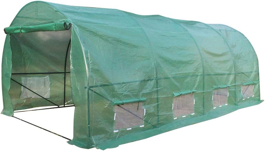 onEveryBaby Portable Greenhouse Large Gardening Plant Hot House Portable Walking in Tunnel Tent, Heavy Duty Gardening Dome Greenhouse Tent (20′x10′x7′)