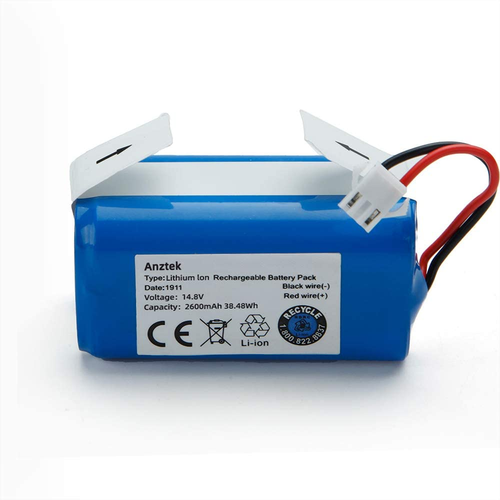 Replacement EcovacsN79,N79SBatteryand SharkIonRVbat700BatteryforRV700,RV720,RV725,RV750Model14.8V 2600mAhRechargeableBattery(3ProngPlug)