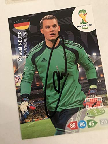 MANUEL NEUER SIGNED Panini Germany National Team Soccer Trading Card Auto. Genuine Autograph! COA - National Team Autographs