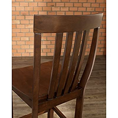 Crosley 3-Piece Pub Dining Set with Tapered Leg and School House Stools