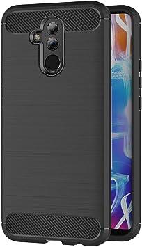 AICEK Funda Compatible Huawei Mate 20 Lite, Negro Silicona ...