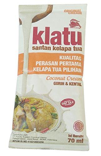 Klatu Santan Kelapa Tua - Coconut Cream Powder, 70ml (Pack of 36) by Klatu