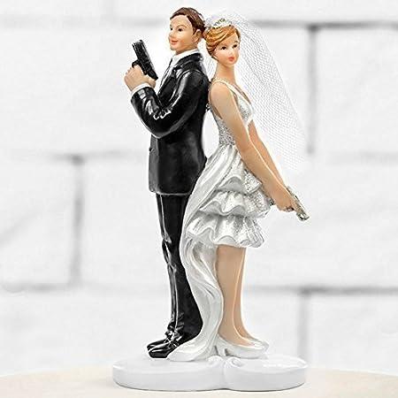 Figurine de g/âteau Le Mari/é Et La Mari/ée Mariage Tour de g/âteau D/écoration de g/âteau Couple de mariage pour Tarte de Maison der Coeurs