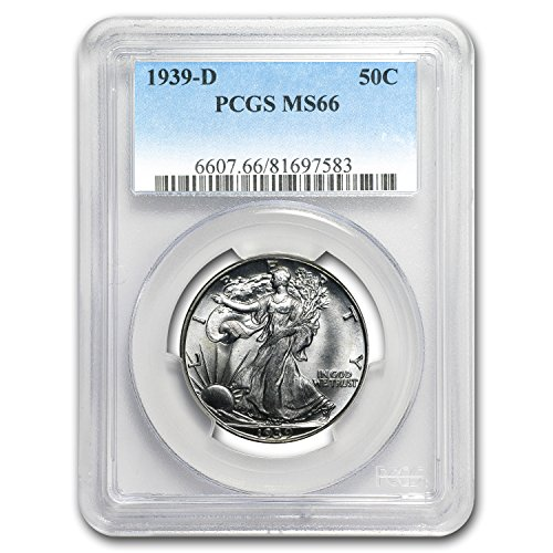 1939 D Walking Liberty Half Dollar MS-66 PCGS Half Dollar MS-66 PCGS