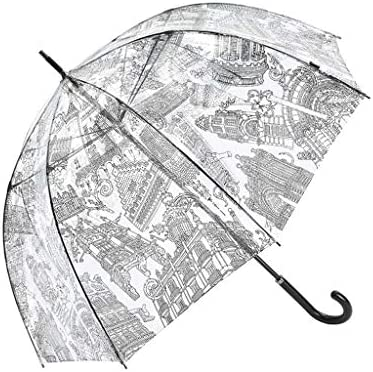 94ad6cfdc13f JSSFQK Household Bird Cage Umbrella Simple Transparent Umbrella Rain ...
