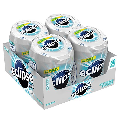 - Eclipse Polar Ice Sugarfree Gum, 60 Piece Bottle (4 Bottles)