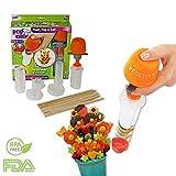 fruit shapes - Fruit and Vegetable Shape Cutter - Fruit Decorating Tools - Fruit Slicer Set - Pop Chef Fruit Cutter - Cookie Decorating tools - for Party Birthday - Men and Women