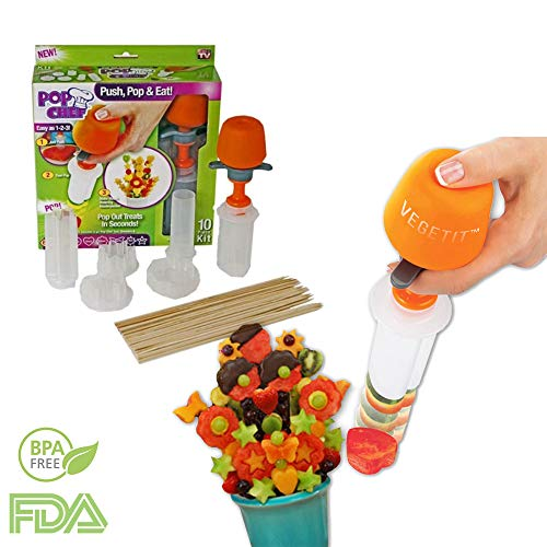 Fruit and Vegetable Shape Cutter - Fruit Decorating Tools - Fruit Slicer Set - Pop Chef Fruit Cutter - Cookie Decorating tools - for Party Birthday - Men and Women -