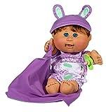 Cabbage Patch Kids 12.5'' Naptime Babies - Brunette Hair/Blue Eye Girl (Leopard Jumper Fashion)