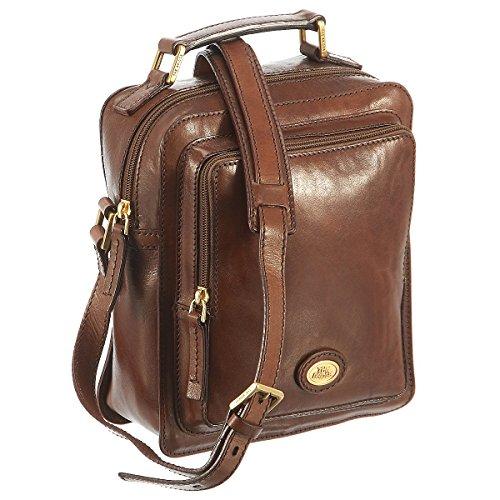 Le sac à bandoulière Bridge Brera Bisaccia 22 cm Brown