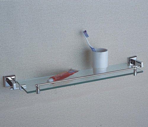 Cloud Power Brass Single Glass Shelves Wall-mounted Single Glass Shelves For Bathroom Single Glass Shelves With Chrome