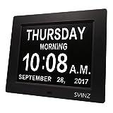 SVINZ 3 Alarms Dementia Clock