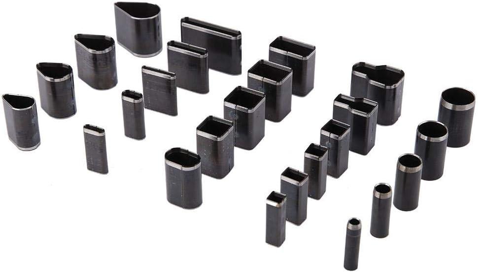 25pcs Poin/çon de Perforation en Cuir Trou Poin/çon Coupeur Outils en Forme Multiple Trou en Cuir Trou Creux Coupeur Poin/çon Pou Bricolage Artisanat