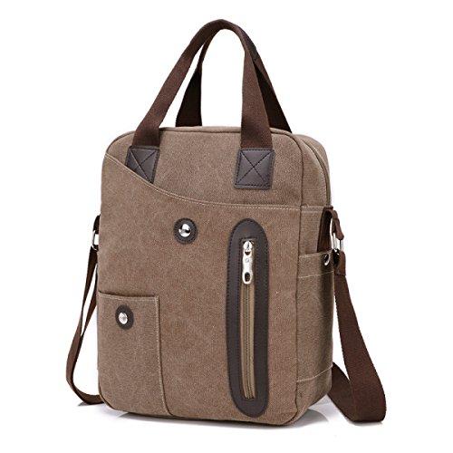 Männer Und Frauen Jahrgang Leinwand Schulter Ipad Messenger Tote Side Multifunktional Tasche,A-26cm*12cm*35cm