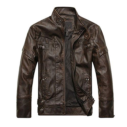 Vintage Leather Moto Jacket - 5