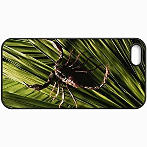 Customized Cellphone Case Back Cover For iPhone 5 5S, Protective Hardshell Case Personalized Scorpion Black