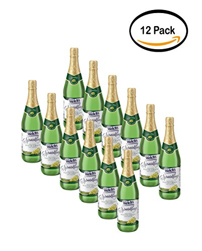 PACK OF 12 - Welch's Sparkling Juice Cocktail, White Grape, 25.4 Fl Oz, 1 (Grape Juice Cocktail)