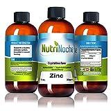NutriNoche Liquid Zinc – Best Zinc Supplement – Colloidal Minerals – 30 PPM 8 oz Bottle – Highly Absorbable Zinc Supplement