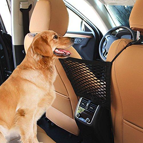 STSEETOP Car Dog Barrier Net,Universal Car Seat Net Children Pet Barrier Backseat For SUV Pickup ()
