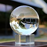 #3: Sumnacon Photography Crystal Ball, Clear Sphere Decor Ball With Crystal Stand For Meditation Divination & Feng Shui Juggling Glass Ball For Wedding Home Office(3.15