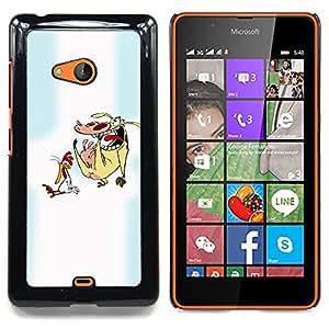 "Qstar Arte & diseño plástico duro Fundas Cover Cubre Hard Case Cover para Nokia Lumia 540 (Personajes de dibujos animados pollo vaca Animales Arte"")"