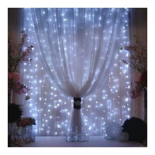 agptek curtain icicle lights 3m x 3m 8 modes white fairy string lights for christmas