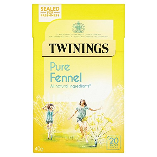 Twinings Herbal Pure Fennel Infusion (Pack of 4, Total 80 Teabags)