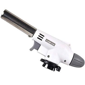 Elenxs La soldadura a gas antorcha encendedor del quemador arma de llama de soplete de butano lanzallamas portátil para hornear de cocina: Amazon.es: Hogar