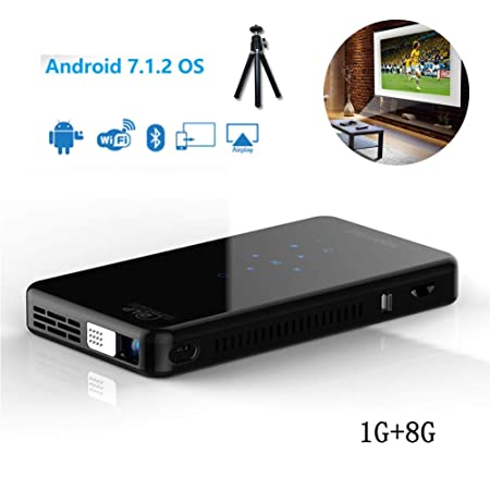 XRLTYY Mini proyector DLP, HD portátil Android 7.1.2, Bluetooth ...