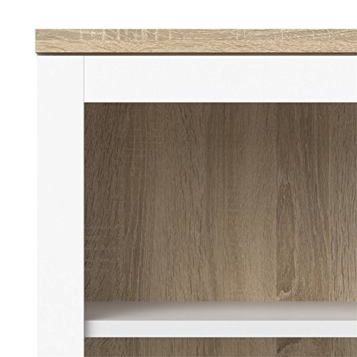 Tvilum 9217649ak Aberdeen 2 Door China Cabinet, White/Oak Structure by Tvilum (Image #2)