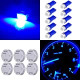 cciyu Stepper Motors X27.168 Instrument Repair Speedometer Gauge Cluster W T5 Wedge Bulbs (6 Pack Stepper Motor with 10Pack Blue T5 LED Bulb)