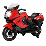 Uenjoy Kids Motorcycle Electric Ride On Motorcycle 12V/ 2 Wheels/ Red