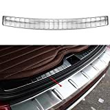 E-cowlboy Stainless Steel Outer Rear Bumper Protector Plate Cover for Nissan X-Trail Rogue 2014 2015 2015 2016 2017