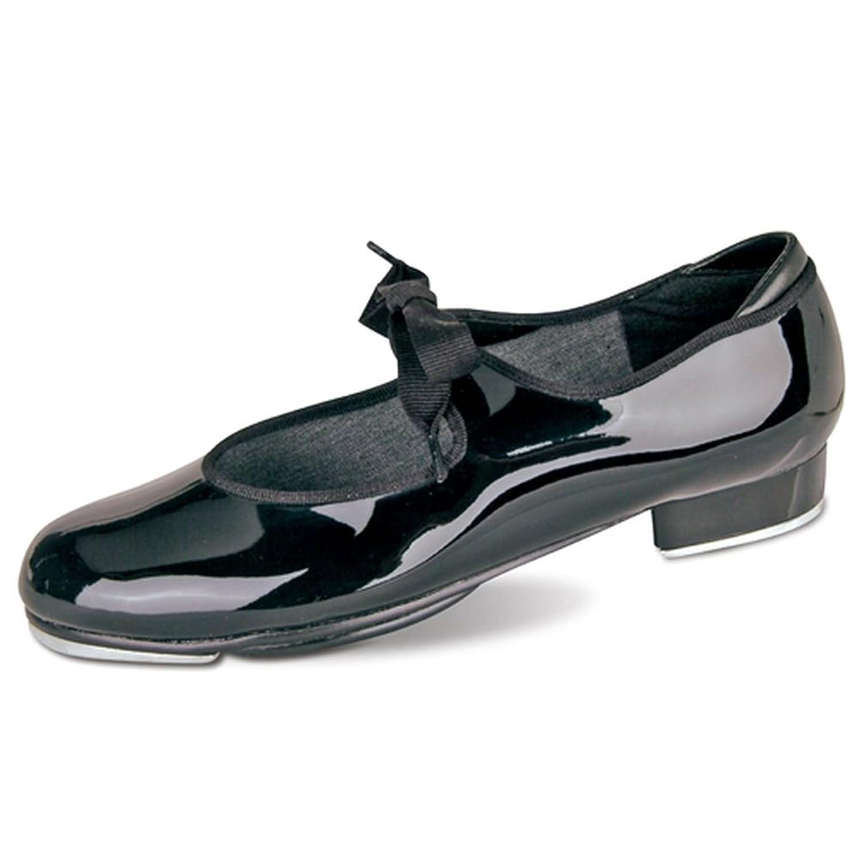 Danshuz Womens Black Patent Grosgrain Ribbon Dance Tap Shoe Size 4-10