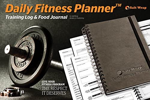 SaltWrap The Daily Fitness Planner - Gym Workout Log and Food Journal - with Daily and Weekly Pages, Goal Tracking Templates, Spiral-Bound, 7 x 10 inches 4