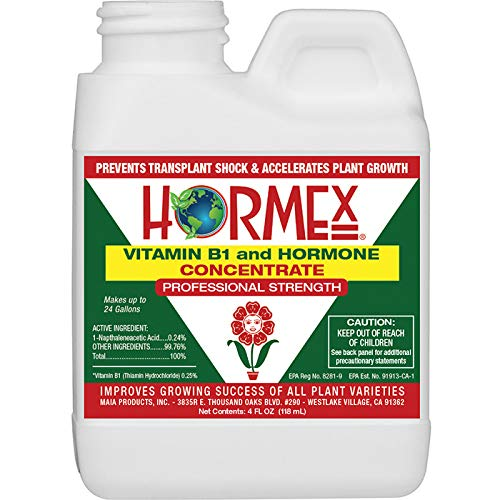 Hormex Vitamin B1 Rooting Hormone Concentrate | Prevents Transplant Shock | Accelerates Growth | Stimulates Roots | for All Plant Varieties and Grow Mediums Including Hydroponics (4 oz) ()
