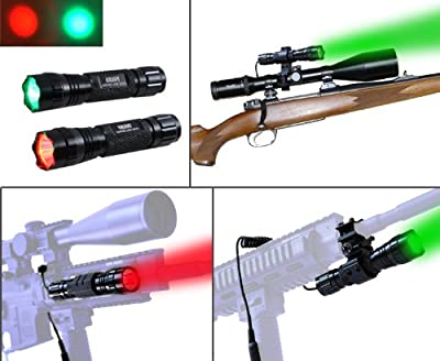 Orion H20 100 Yard Red or Green LED Coyote Hog Pig Varmint Predator Hunting Light Flashlight with Remote Pressure Switch & Scope, Rail or Barrel Rifle Mount from Orion Hunting Lights
