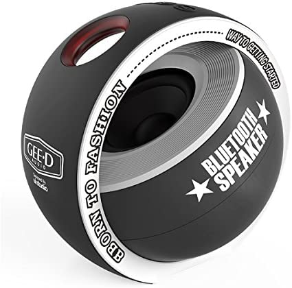 GEE D B038 Portable Bluetooth Speaker Mini with Subwoofer 3D Stereo Sound Super Speaker, Built-in Mic, Small Bluetooth Speaker Wireless for iPhone Sony Samsung Android and More Black