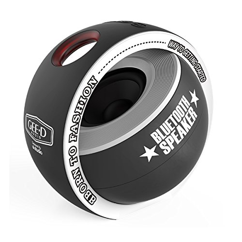 GEE•D B038 Portable Bluetooth Speaker Mini with Subwoofer 3D Stereo Sound Super Bass Speaker, Built-in Mic, Small Bluetooth Speaker Wireless for iPhone Sony Samsung Android and More (Black)