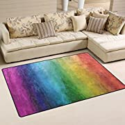 Sunlome Rainbow Color Area Rug Rugs Non-Slip Indoor Outdoor Floor Mat Doormats for Home Decor 31 x 20 inches