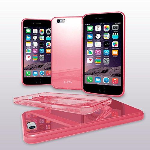 Soft Flex Silicone (iPhone 6S Case, Cellto Thin TPU [0.33 mm] Cover [Precision Fit] Premium Soft Flex [Anti Slip] Silicone Case for Apple iPhone 6 - Clear Pink)